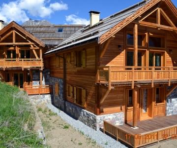 Construction d'un chalet ossature bois