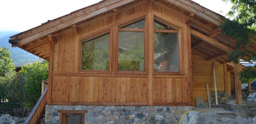 Rénovation ossature bois d'un Chalet à la Casse