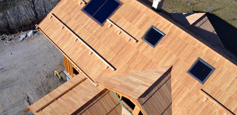 Construction d'un chalet ossature bois très grand standing
