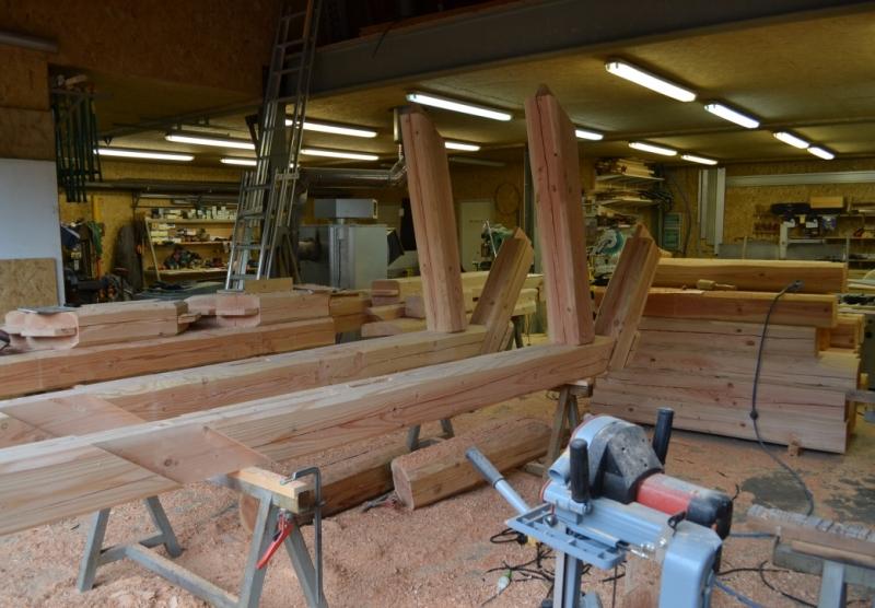 Atelier Alp'Ecrins Construction à Vallouise, Hautes-Alpes: fabrication de fermes