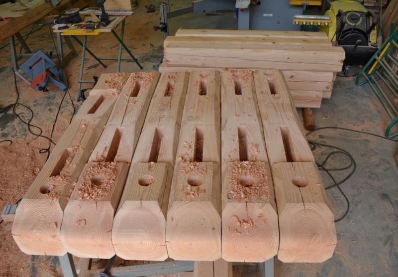 Alp'Ecrins Construction, charpentier-couvreur : consoles de charpente