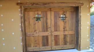 Alp 39 ecrins construction constructeur de chalets bois et maisons ossature bois hautes alpes - Porte garage isolee ...
