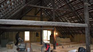 Pose du premier plancher sur KVH