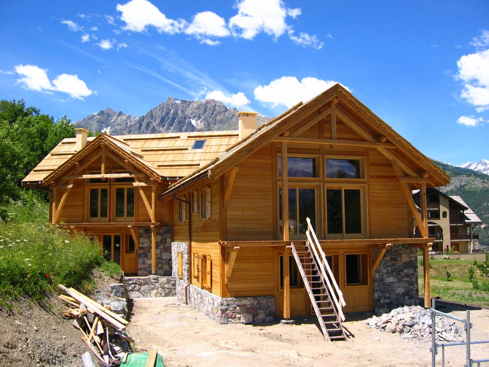construction de chalet bois et maison ossature bois hautes alpes alp 39 ecrins construction. Black Bedroom Furniture Sets. Home Design Ideas
