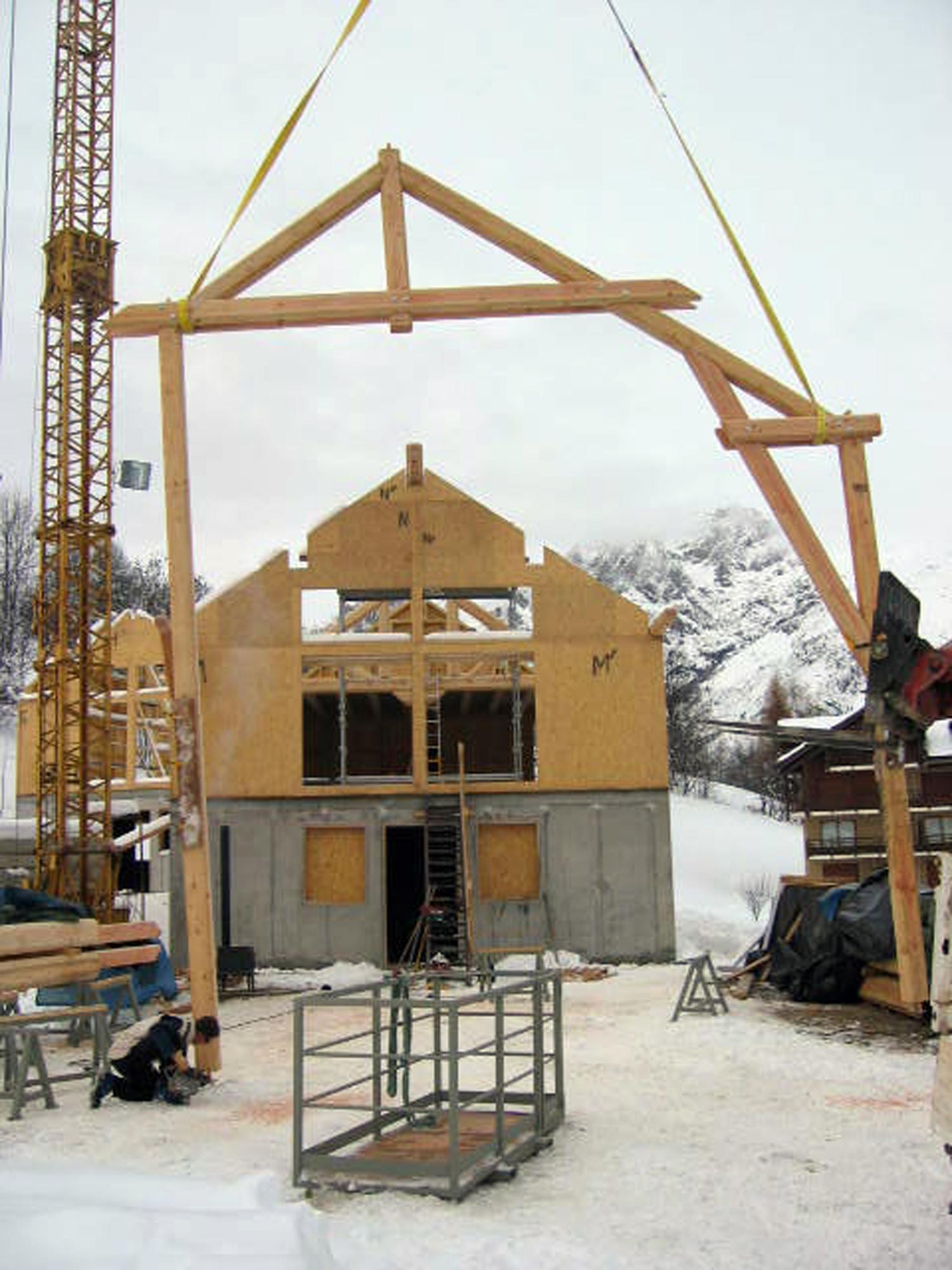 Notre expertise en images de la construction de chalets for Construction chalet